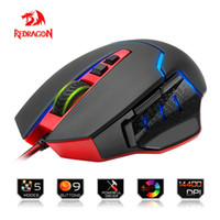Redragon USB Gaming Mouse 14400 DPI 9 buttons ergonomic desi...