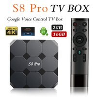 2018 Newest Google Voice Control TV BOX S8 PRO Androidtv OS ...
