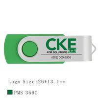 Оптовая 50 шт. 512 МБ USB 2.0 Флэш-накопитель Печатный логотип с металлическим поворотным гравировкой Персонализировать имя Memory Stick для ПК Macbook Pen Drive