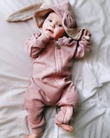 New Spring Autumn Baby Rompers Cute Cartoon Rabbit Infant Gi...