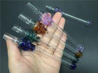 Pyrex Glass Skull fumar pipa Tabaco tubos de mano para fumar One Hitter Pipe filtros de cigarrillos vidrio fumar aceite Quemadores tubos