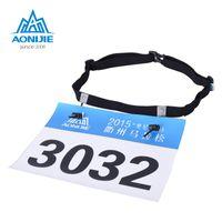 AONIJIE Unisex Triatlón Maratón Carrera Número Cinturón Con Gel Holder Cinturón de tela Cinturón de tela Motor Correr Deportes al aire libre