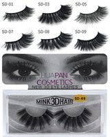 3D Multilayer Mink Lashes Thick Mink Lash Strips False Mink ...