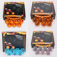 7pcs lset 4cm Dragon Ball Z Crystal Ball DragonBall 7 Stars ...