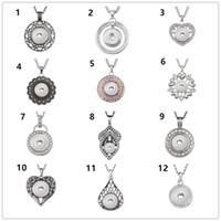 Collier de pendentif Round Crystal Fit Diy 18mm Snap Bijoux Noosa Chunk (12 Design Gratuit Choisir)