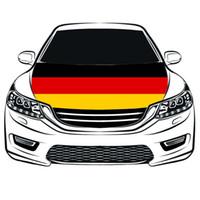 2018 Russland World Cup Football Match Flagge, Deutschland Flagge Motorhaube 3.3X5FT 100% Polyester, Motorflagge, elastische Stoffe können gewaschen werden