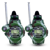 2pcs 7 In 1 Walkie Talkie Watch Camouflage Style Children To...