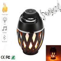 Nuove luci a fiamma a led con altoparlante Bluetooth Lampada da atmosfera a fiamma a led portatile all'aperto Altoparlante stereo Suono da ballo impermeabile