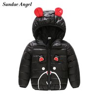 Sundae Angel Girls Winter Coat Children's Parkas Winter Jackets Hooded Cute Ear Thicken Kids Boys Outerwear Clothes For 12M-6Y