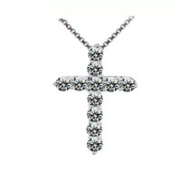 Woman necklace silver items necklaces crystal jewelry cross ...