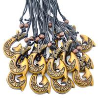 Племенной Як кости резные Новая Зеландия Маори Матау рыба крюк Ожерелье для мужчин женщин подарок MN614