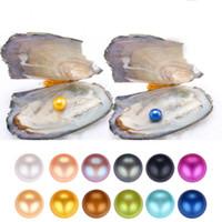 2018 Yeni Oyster Pearl 6-8mm 25 mix Renk tatlısu Doğal inci Hediye DIY Takı süslemeler Vakum Paketleme Toptan ücretsiz nakliye
