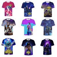 20 Colors Fortnite T- shirt Men' s Summer Cool Print 3D S...