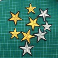48 шт. / лот золото и серебро Звезда вышитые значки патчи Звезда патчи для одежды стикер одежда стикер