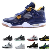 newest mens basktball shoes 4s 4 pure money royalty white ce...