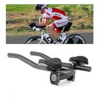 자전거 도로 산악 자전거 자전거 경주 자전거 MTB 트라이 애슬론 핸들 바 나머지 핸들 바 분리 된 2pcs 파이프 레스트 엔드