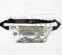 5pc2018 New Light And Thin Laser Bags Waist Style 6colors metallic silver sparkle chest pack Fanny festival purse travel hologram bag W Fsap