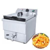 Qihang_top alta qualidade 8L Comercial tanque único elétrico batatas fritas fritadeira elétrica fritadeira