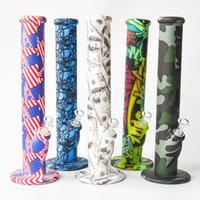 Flag Silicone Water Pipe Silicone Bongs with 14. 4mm joint Oi...