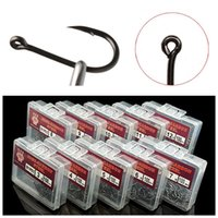 1000pcs 10box 3- 12# Ise Hook High Carbon Steel With Hole Bar...