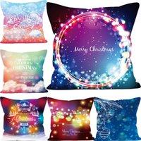 Merry Christmas Dreamy Color Funda de Almohada Funda de Cojín Throw Sofa Cushion Case Hogar Decoración de Navidad Funda de Almohada