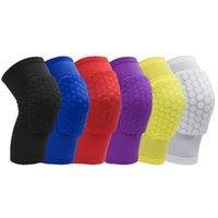 2018 Hot Honeycomb Sport Veiligheid Volleybal Basketbal Korte Knie Pad Shockproof Compression Socks Knie Wraps Brace Protection Single Pack