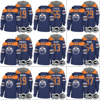 6987ed34e22 Edmonton Oilers Hoodie 100th Patch 97 Connor McDavid 19 Patrick Maroon 33  Cam Talbot 29 Leon Draisaitl 93 Ryan Nugent-Hopkins Hockey Jerseys