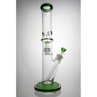 Vaso de cristal Bong Dab aparejo de ducha Perc Cúpula Embriagador aguas Tubos Bongs 14mm Tazón plataformas petrolíferas pelele pipa gruesa Tall