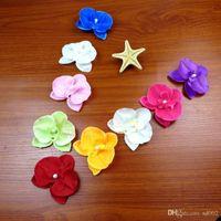 DIY flores artificiales de la orquídea de la polilla la flor de seda falsa moda para niños accesorios para el cabello diseño romántico decoraciones de la fiesta de bodas 0 4zb ZZ