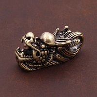 Brass Dragon Head Gold Vintage Men' s DIY Key Chain Ring...