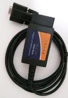 ELM 327 COM 포트 RS232 플라스틱 OBDII 스캐너 자동차 진단 도구 ELM327 RS 232 OBD2 검사 도구