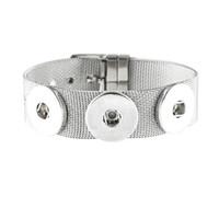 JaynaLee 3 Knöpfe Edelstahl Ginger Snaps Taste Armbänder Schmuck fit 18mm oder 20mm Snaps für frauen Männer geschenk GJB8022