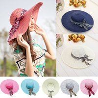 Cappello da sole con top a tesa larga dolce Fedora Sweet Fashion da donna