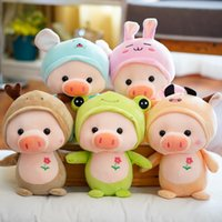 Candice guo! Super cute plush toy lovely cartoon pig piggy t...