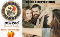 New Bluezoo 60g Mustache Wax Care Cream Sandalwood Orange Eu...