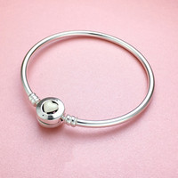925 Sterling Silver White Heart enamel BRACELET Original box...