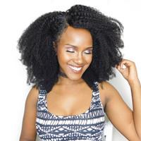 Afro rizado brasileño Cabello humano rizado 2/3 paquetes 10-20 pulgadas Extensiones de cabello humano virgen rizado Afro Kinky Tejidos rizados Vendoreros