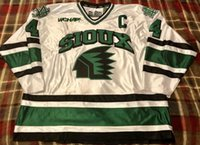Vintage University of North Dakota Fighting Sioux Dane Litke Hockey Jersey  Embroidery Stitched Customize any number and name Jerseys 776a78715