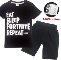 Summer Children Boys Clothes Girls Fortnites T Shirt Cartoon...