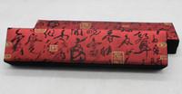 Caja de embalaje fabricante de joyería de jade al por mayor de franela caligrafía poema antiguo brocado collar colgante caja