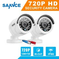 SANNCE 2PCS AHD 720P 1200TVL Security Camera System Outdoor ...