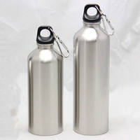750ML or 500ML 2018 New Sliver Water Stainless Steel Double Vacuum Insulated Bottle Sport Drinking Water Bottles with Lid Rope
