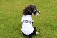 Marca Pet Dog T-Shirt Moda perro transpirable Priint camisa de lujo Sup Design Puppy Apparel Verano Teddy Outwear Casual Sport ropa para mascotas