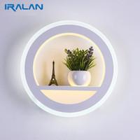 Lampade da parete moderne a LED 12W Soggiorno moderno Comodino semplice Camera da letto Lampade da parete per interni Lampada da comodino in acrilico per la casa