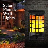 Solar Light Waterproof Flickering Dancing Flames Wall Lights...