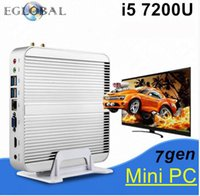 Eglobal 4USB3.0 1LAN 1HDMI + 1VGA SIM Mini PC Fanless V2-7200U Windows 10 Intel Skylake Core i5 7200U HTPC