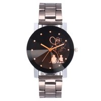 Ventas calientes de la manera de lujo Acero inoxidable reloj hombres mujeres amantes militar deportes cuarzo reloj