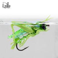 Кузнечик летит сухой нахлыстом мухи 12 шт. насекомых приманки Рыбалка приманка карп форель Muskie Fly вязания материал нахлыстом