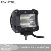 4Inch Flutlichtstrahl Auto führte Arbeitsscheinwerfer 12V für Off Road SUV ATV 4x4 Boots-Auto-Fahrlicht 48W LED Arbeits-Licht-Bar