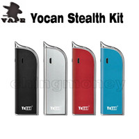 100% Original Yocan Stealth Starter Kit 2 в 1 Vaporizer 650mAh Блок батарей Mod Vape Pen DHL бесплатно